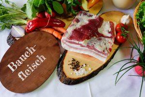 Qualitätsschweinefleisch - Bauchfleisch - Biohof Hubicek