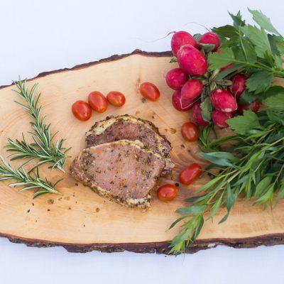 Steak mariniert
